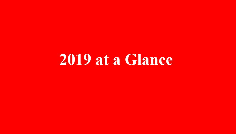 2019 at a Glance